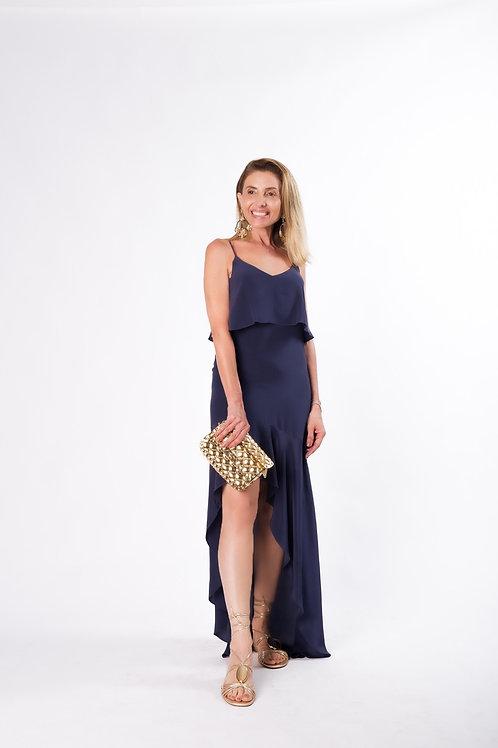 Vestido longo Seda Pura