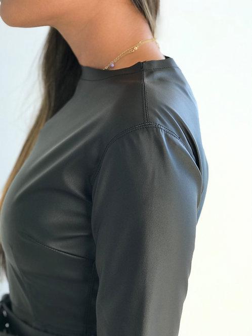 Vestido Couro