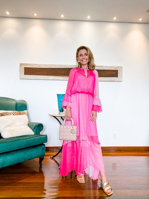 Vestido Degradê Pink
