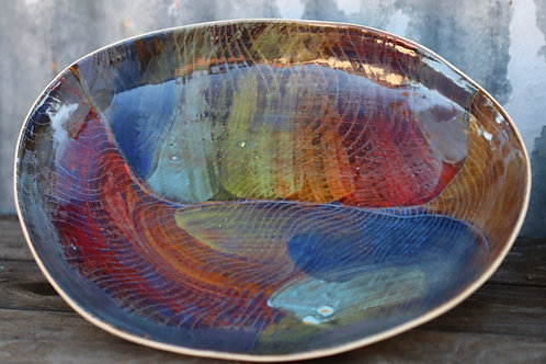 Dirty Rainbow Serving Bowl