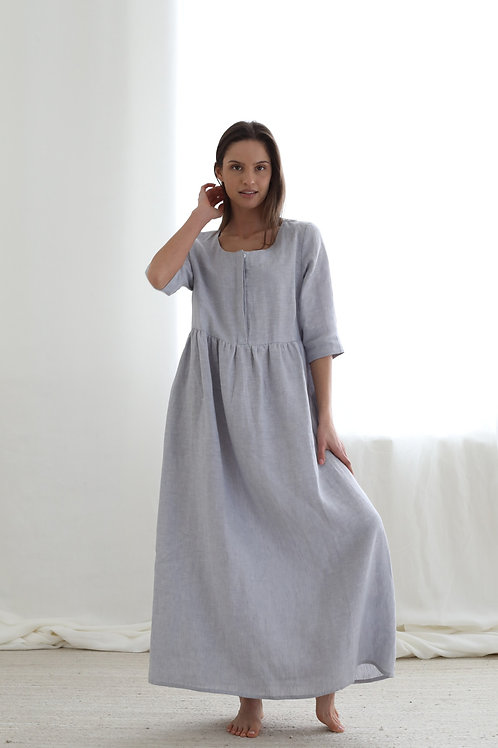 Long dress with buttons at front