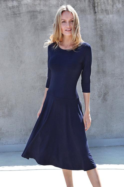 Viscose/Elasthane Knee Length Dress