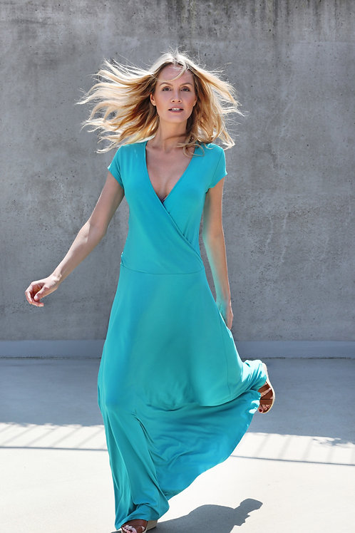 Long Lagoon Viscose/Elastene Dress
