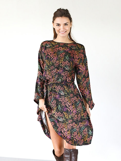 Long Sleeves Viscose Dress
