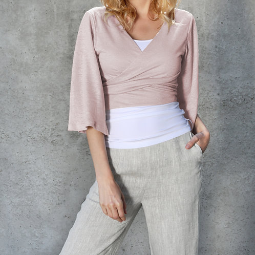 Linen Jersey Cardigan-Bolero