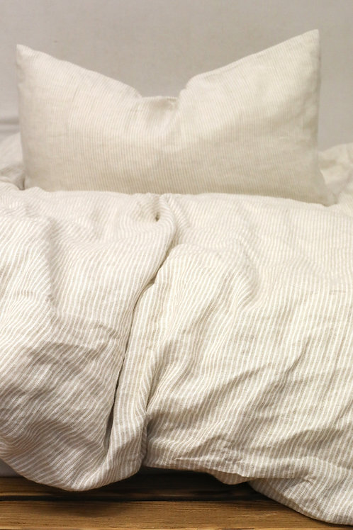Beige/Stripes Linen Bedding