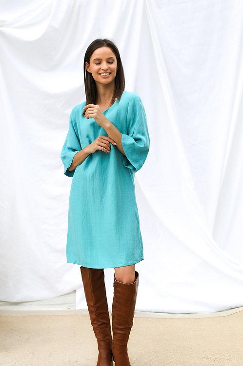 Mini sukienka z mieszanki len/cupro