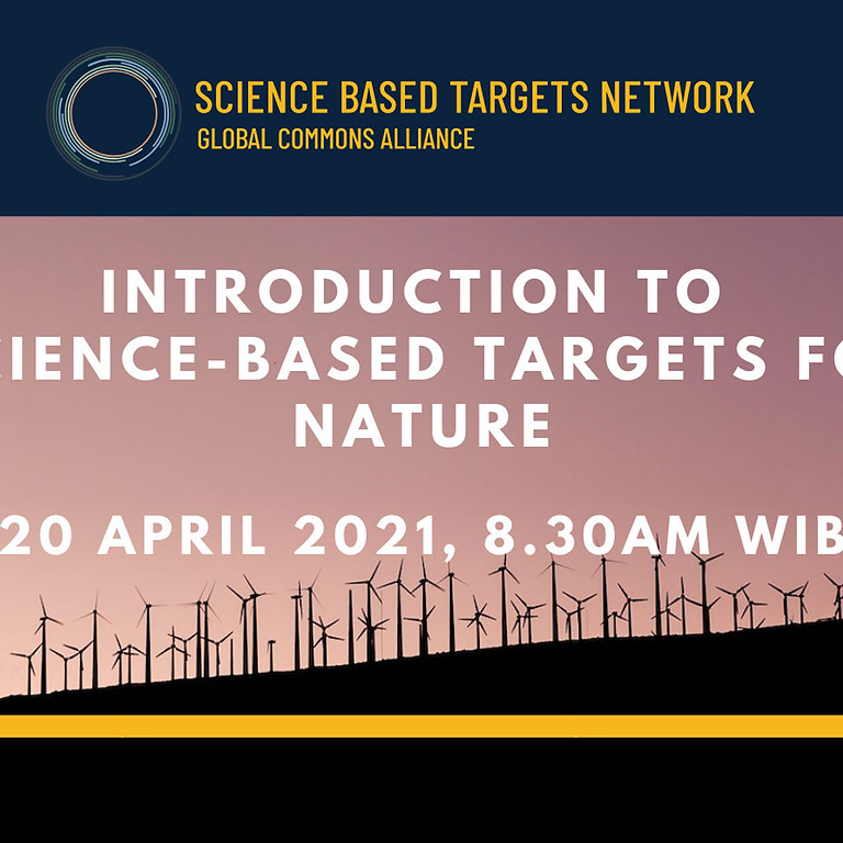 Introduction to science-based targets for nature – South East Asia