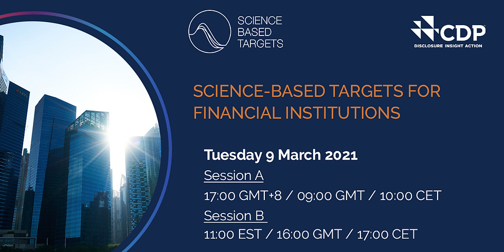 SBTi-FI: Science Based Targets for Financial Institutions