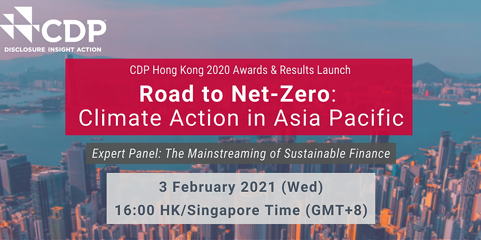 CDP Webinar | Road to Net-Zero: Climate Action in Asia Pacific
