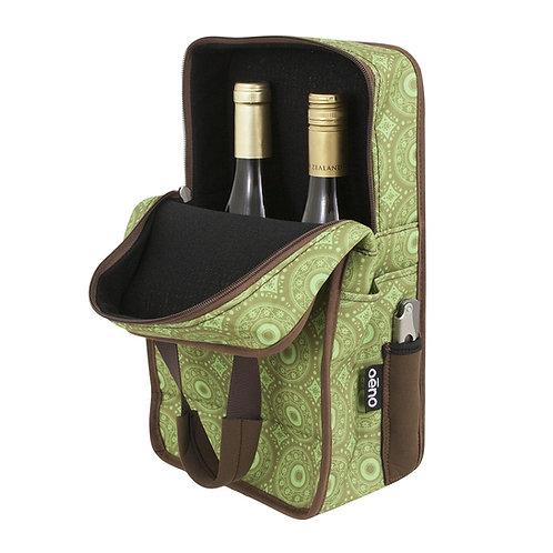 Vinsulator Duo Wine Tote - Green
