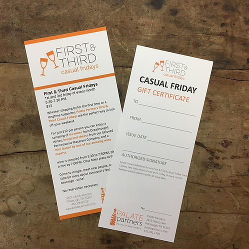 First & Third Casual Friday Gift Certificate