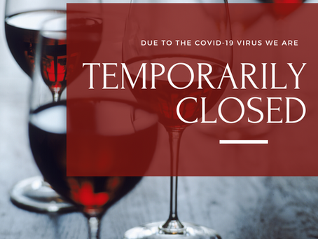 COVID-19 UPDATE: We're Closing for Two Weeks