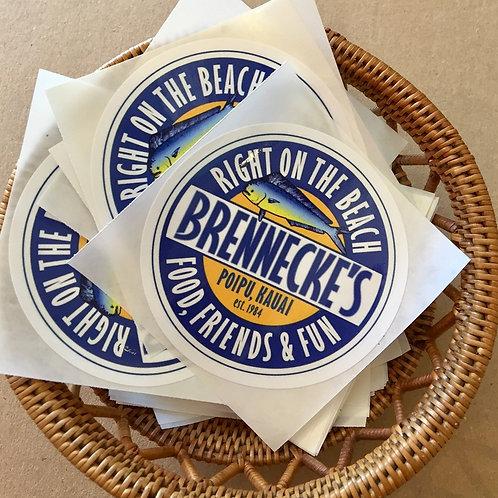 Brennecke's Food Friends & Fun Sticker