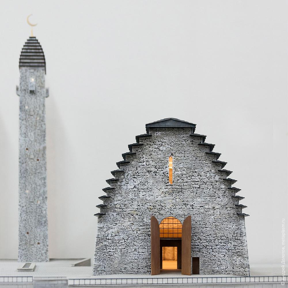 Проект мечети в станице Троицкая Сунженского района, республика Ингушетия. Фотографии с макета.