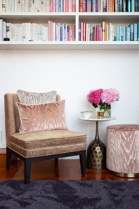 Custom cushions and Ottoman