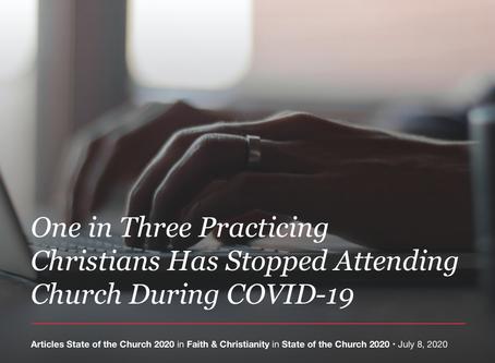 신앙을 실천하는 크리스천 3분의 1이 코로나19 이후 교회에 참석하지 않고 있다