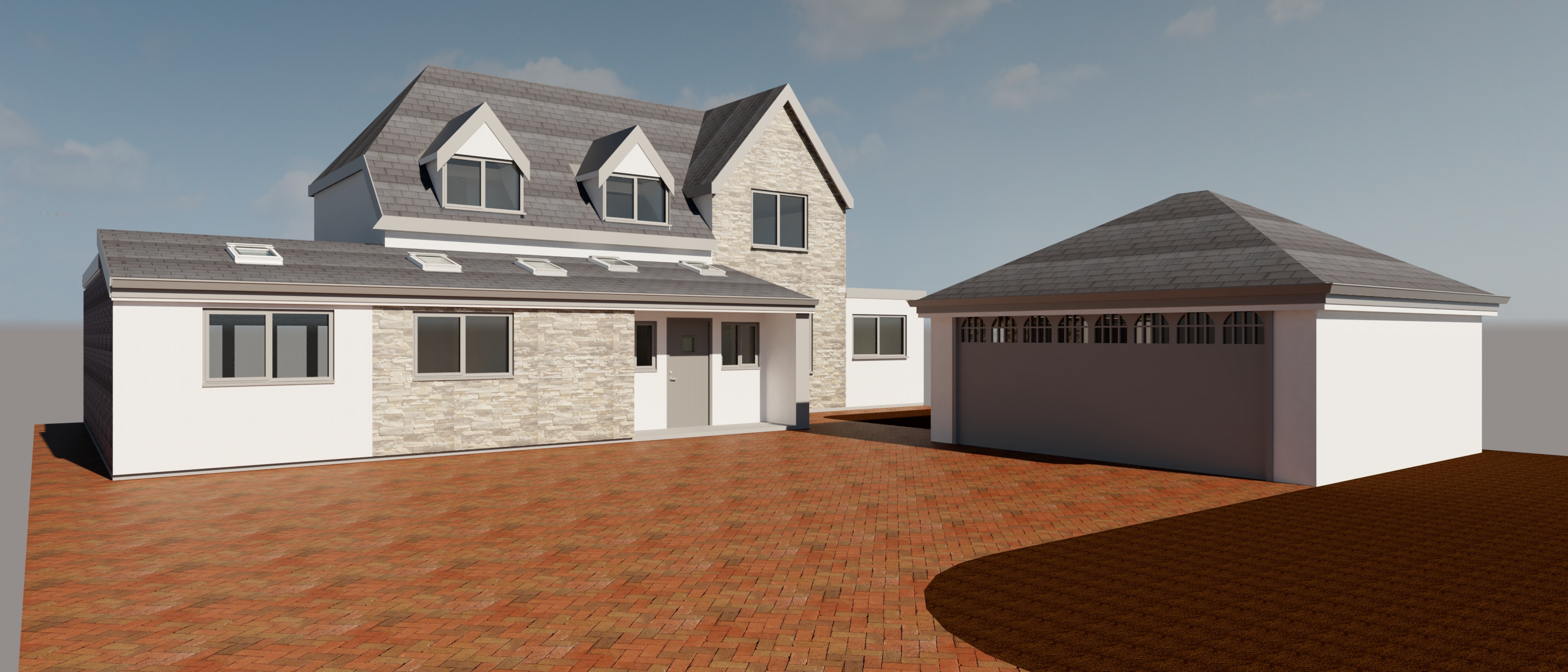 Banbury - Detached Garage, Cladding & Front Extension