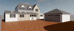 Banbury - Detached Garage, Cladding & Front Extension