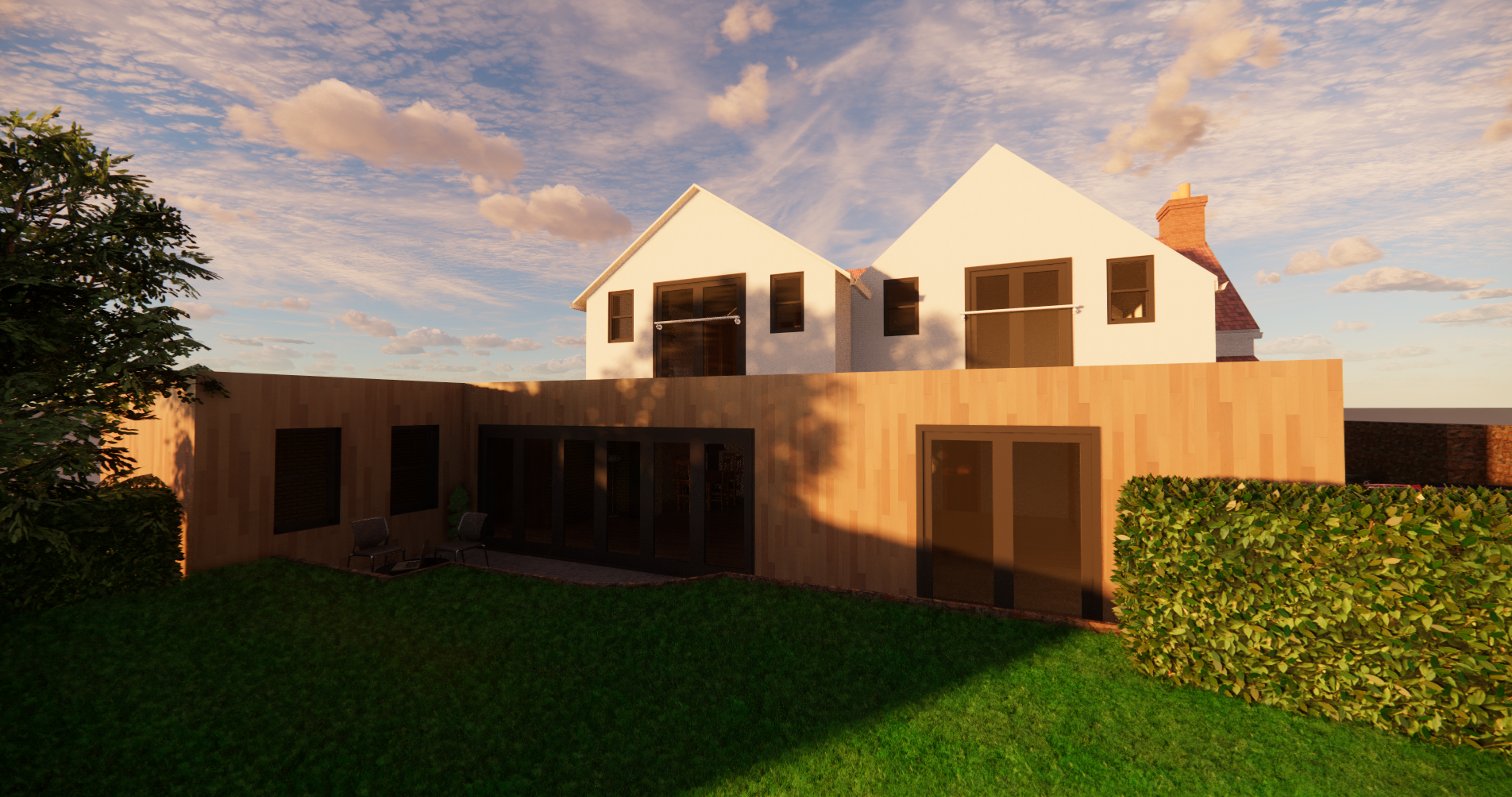 Grade II Listed - Sunset Render