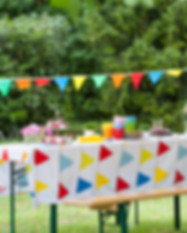 Outdoor Birthday Party Table