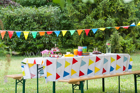 Al aire libre mesa de cumpleaños
