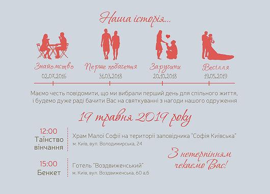 весільні запрошення, особиста історія