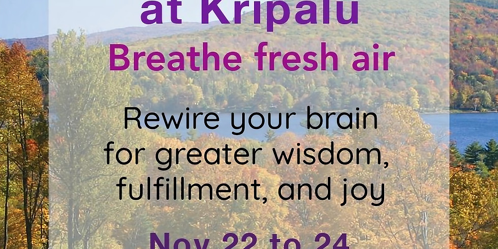 Calm Clarity 3-day weekend retreat at Kripalu Center for Yoga & Health