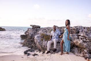 Engagement photos on rose island beach