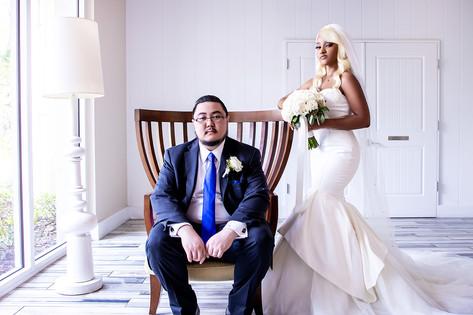 paradise island wedding photo