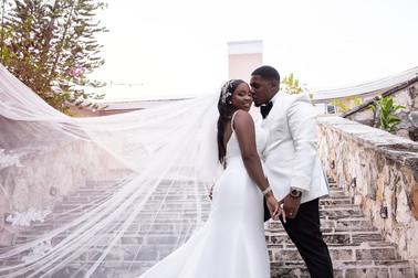 Wedding portraits at Balmoral Club Bahamas