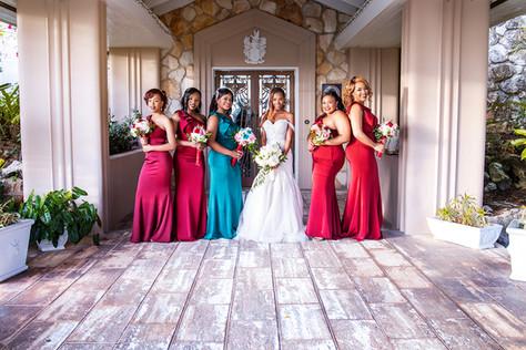 bridal party at balmoral club