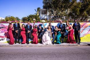 National Art Gallary bahamas with bridal party