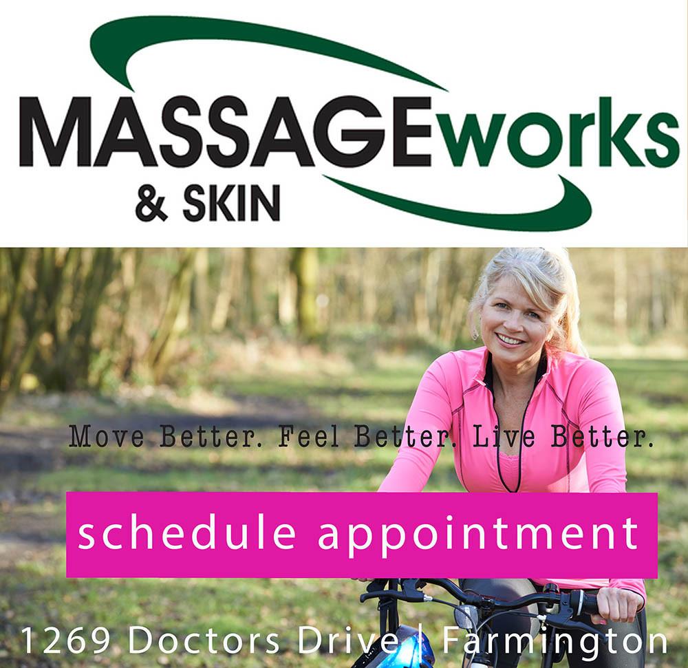 Advertisement for Massage works in Farmington Missouri