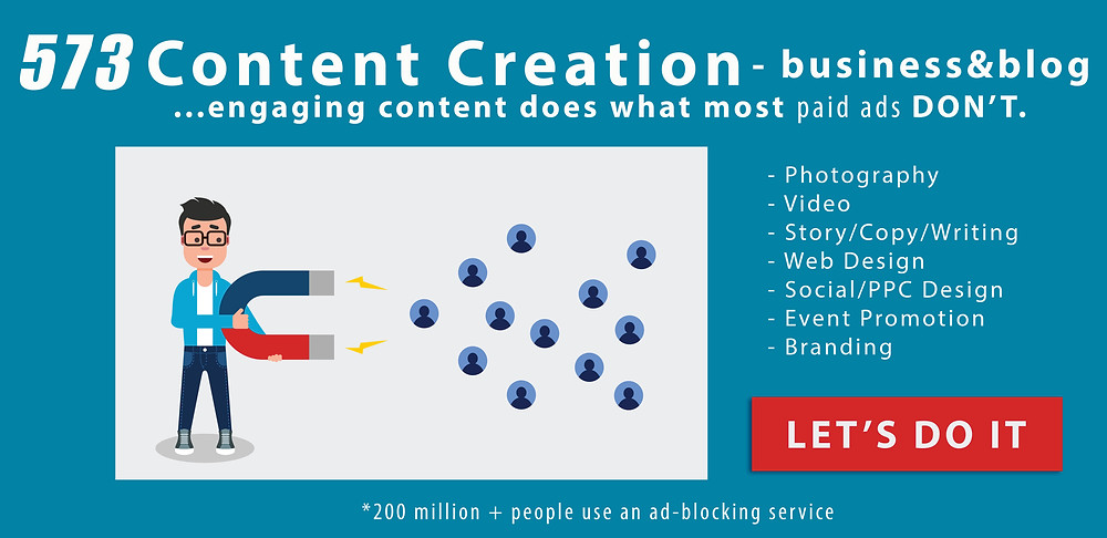 Advertisement for Image Maker Marketing and 573 Content Creation