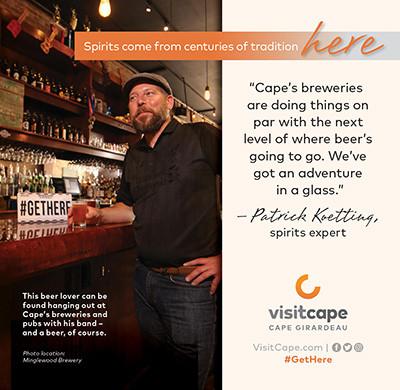 Advertisement for Cape Girardeau Visitors Bureau