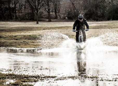 Rain,  Sleet,  Muck  -I don't care,   I'm riding my bike.