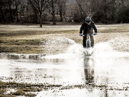 Rain,  Sleet,  Muck  -I don't care,   I'm riding my bike.