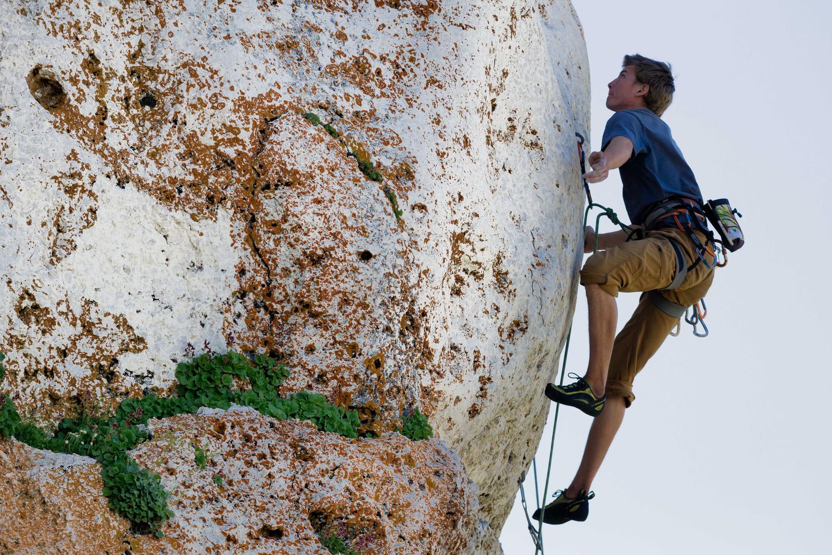 Climbing at Wild Iris, Wyoming