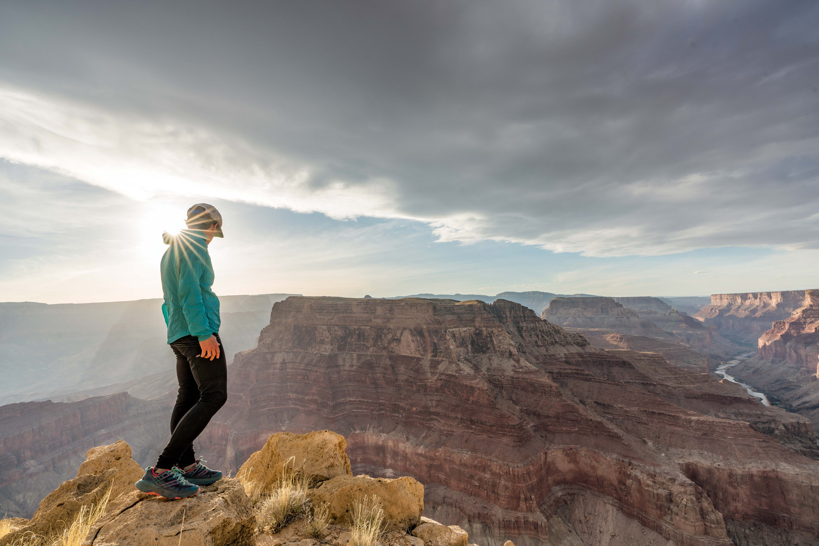 Elyssa Shalla viewing the Grand Canyon near The Confluence