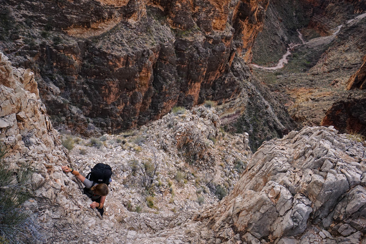 Scrambling in Grand Canyon