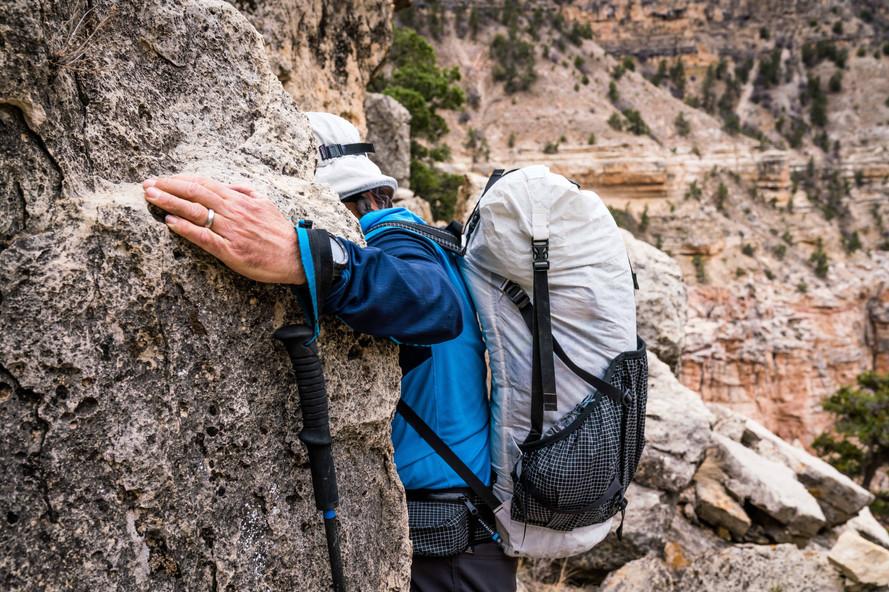 Moe Witschard scrambling in Grand Canyon