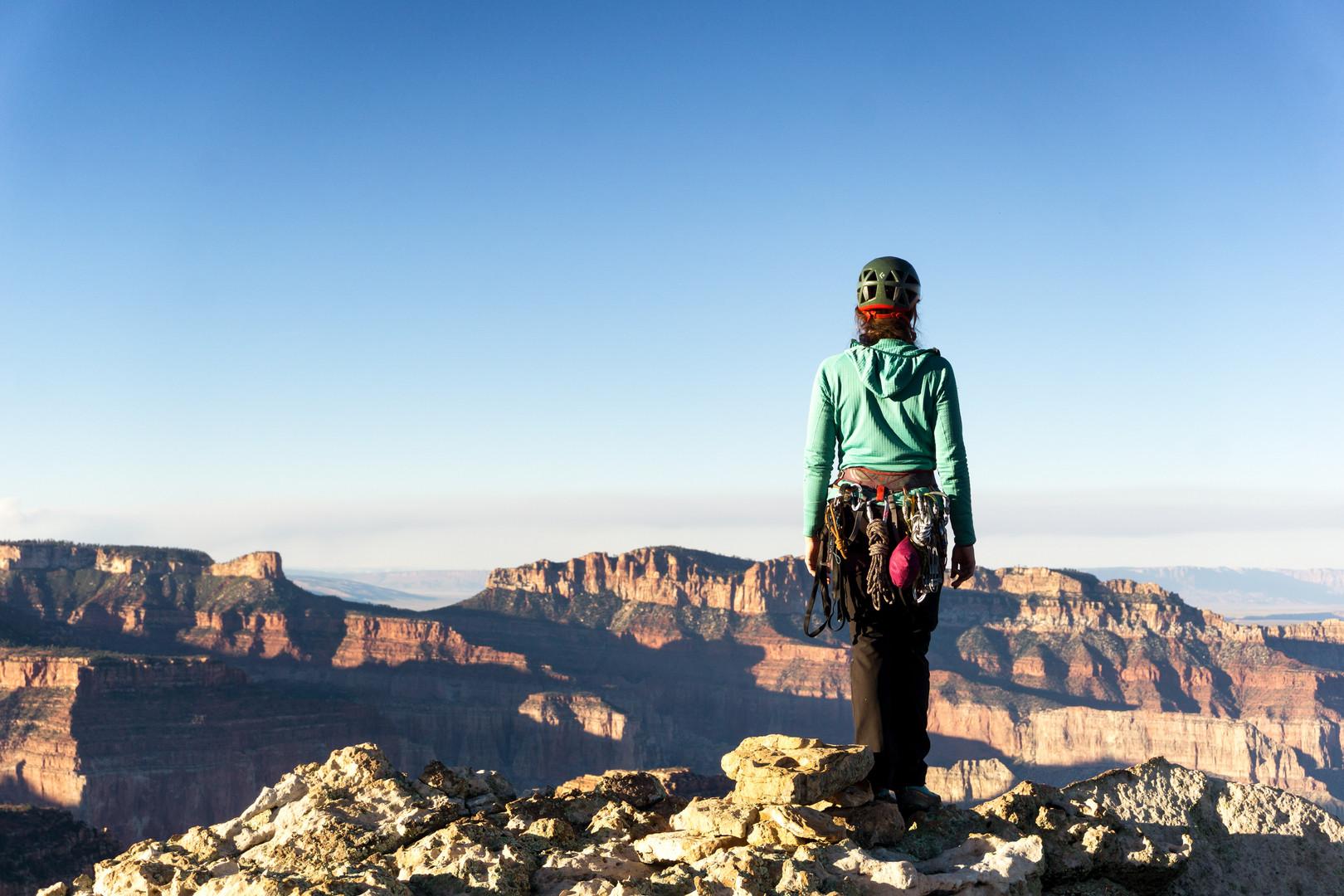 Kate McHugh on the summit of Mount Hayden