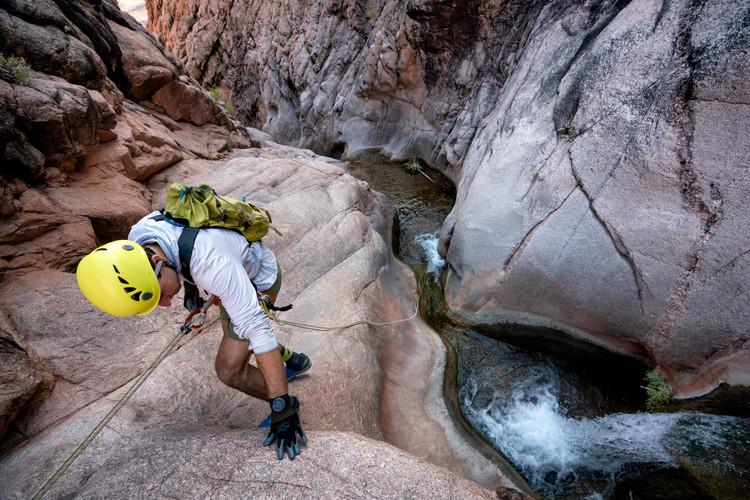 Solomon Krevans dropping into Garden Creek