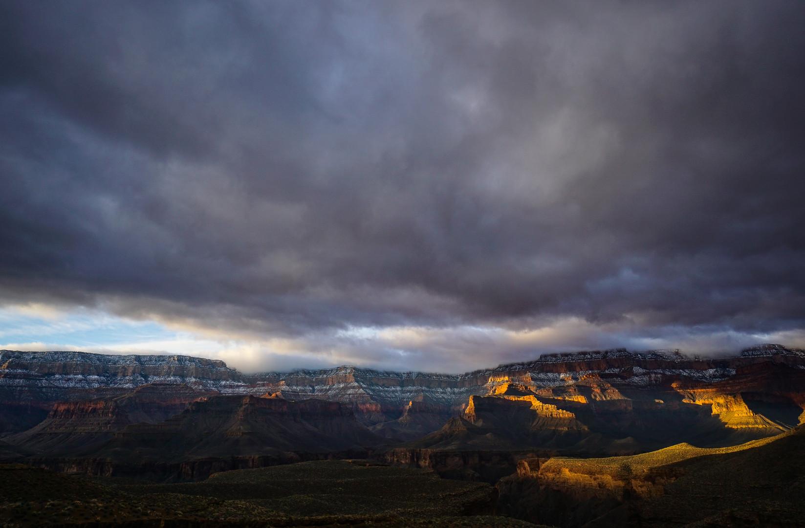Winter storm under Powell Plateau