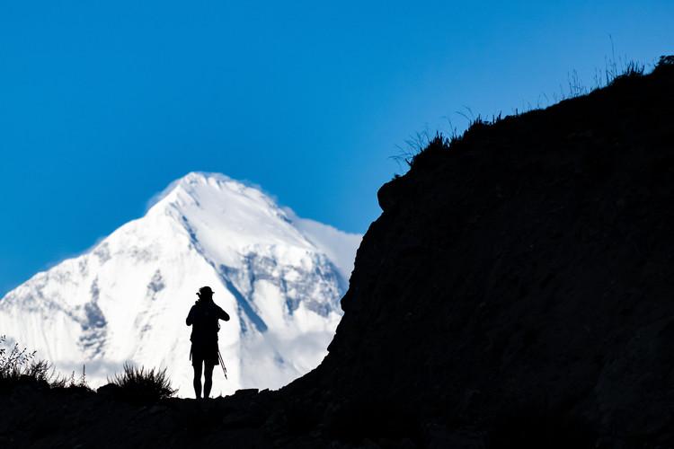 Yves Stevens looking at Dhaulagiri