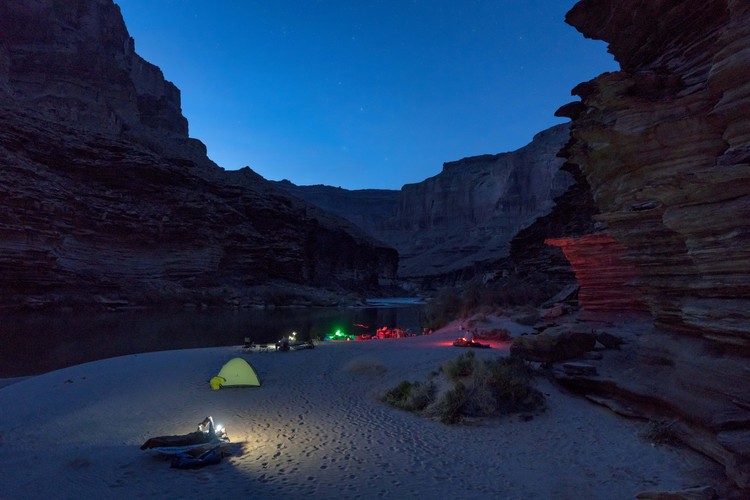 Camping in the Grand Canyon along the Colorado River