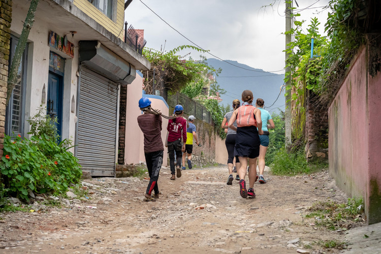 Running in Kathmandu, Nepal