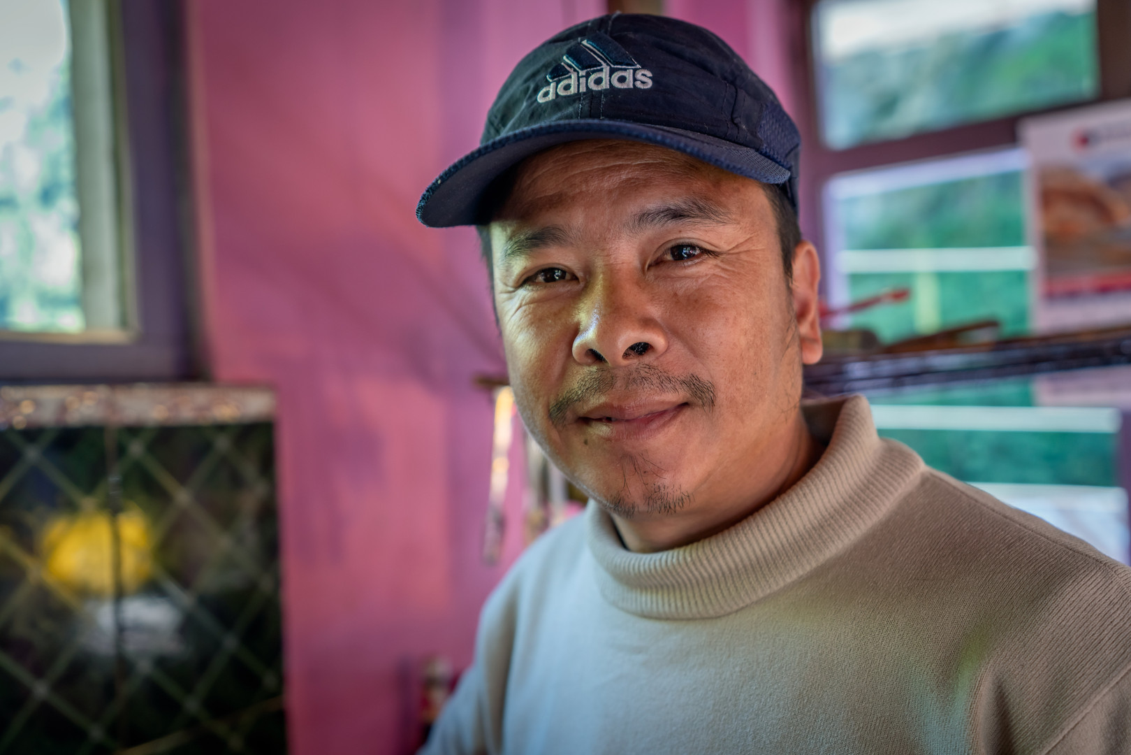 Teahouse owner in Nepal