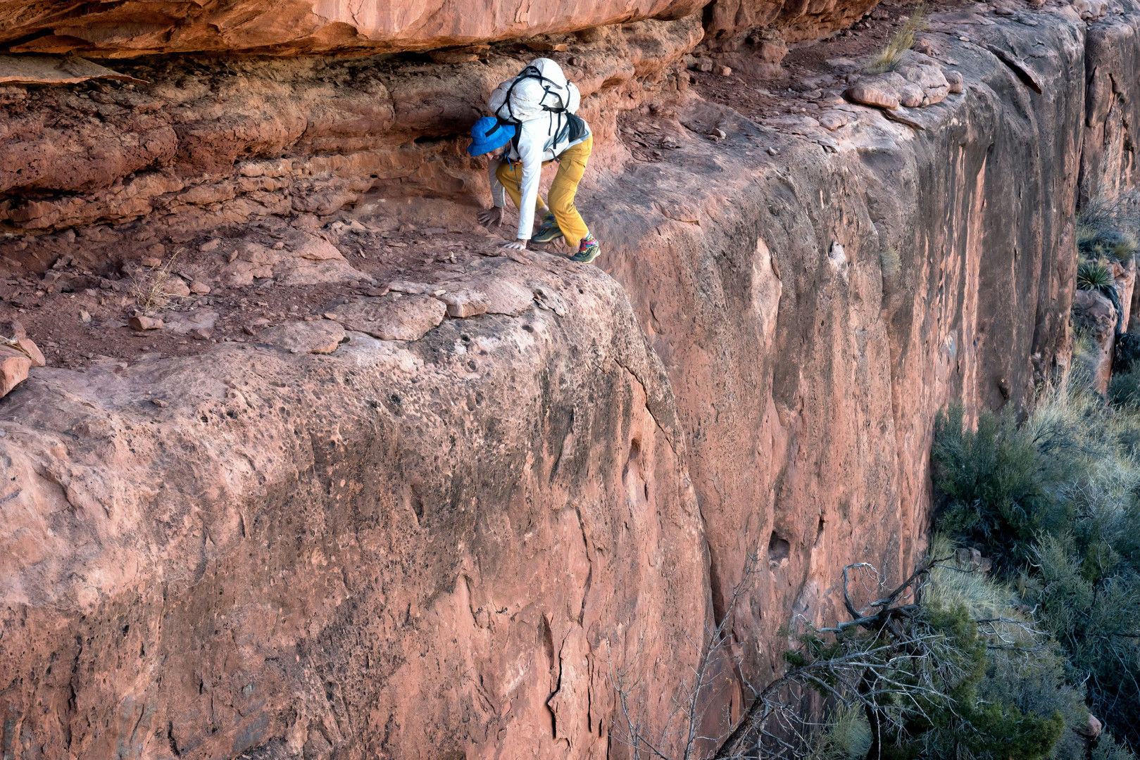 Keith Peterson scrambling in the Grand Canyon